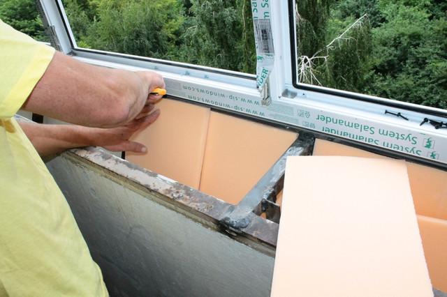 утепление выноса балкона