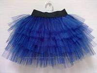 Юбка пышная пачка синяя для девочки