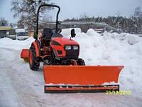 Мини-трактор KIOTI CK22 с отвалом и щеткой