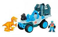 Внедорожник и желтый динозавр, игровой набор. Jurassic World