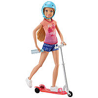 Игровой набор Barbie на самокате (Barbie Stacie and Scooter Gift Set), Mattel