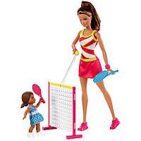 Игровой набор Barbie тренер по теннису, (Barbie Gymnastic Coach and Student Dolls Playset), Mattel,