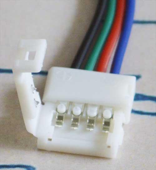 Разъем(коннектор) для светодиодной ленты RGB 10мм. + провод