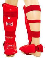 Защита голени с футами EVERLAST 3958-R красная