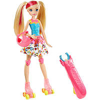 Кукла Barbie на роликах героиня видеоигр (Barbie Video Game Hero Light-up Skates Barbie Doll). Mattel
