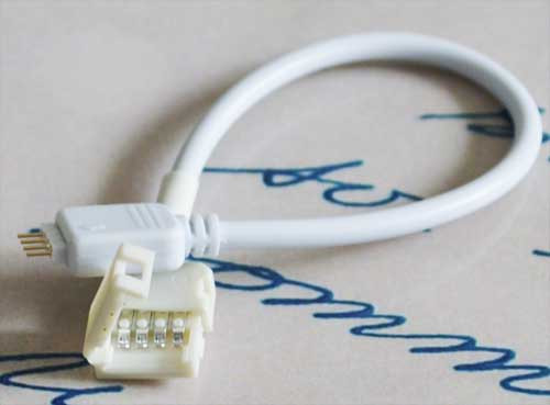 Разъем(коннектор) для светодиодной ленты RGB 10мм. + провод с разъемом для контроллера ленты