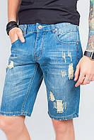 Шорты мужские джинсовые рваные стильные AG-0003830 Светло-синий