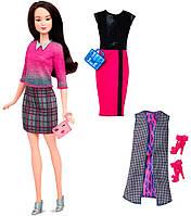 Набор Barbie Модница с одеждой, брюнетка 36, Barbie, Mattel, брюнетка 36