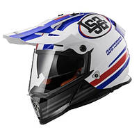 Эндуро шлем LS2 MX436  Pioneer Quarterback White/Blue/Red