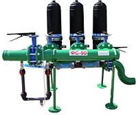 Фильтростанция ФС-90ПА для капельного полива с полуавтоматической промывкой