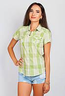 Рубашка летняя яркая AG-0003937 Оливково-молочный