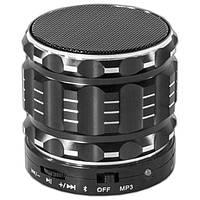 Компактная мини колонка Lesko BL S28 черная с микрофоном беспроводная портативная bluetooth USB AUX microSD