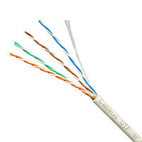 Кабель витая пара UTP 5е одножильный гибкий кабель для внутреннего монтажа прокладки интернета