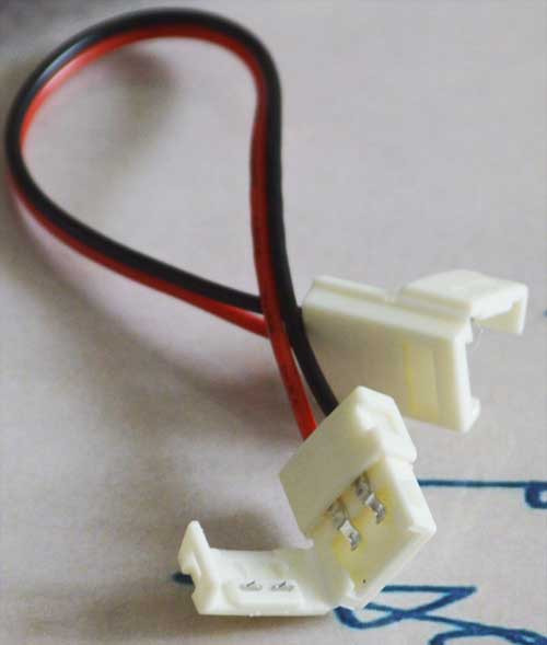 Разъем(коннектор) для светодиодной ленты 10мм. + провод с рзъемом