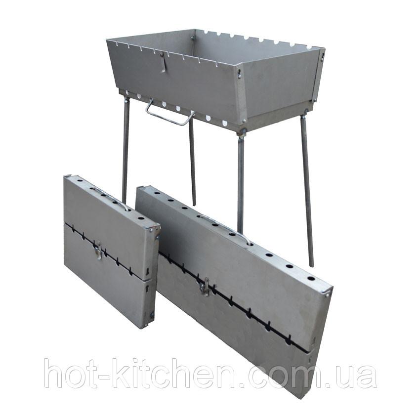 Мангал (чемодан) на 8 шампуров 1.5 мм толщина оптом и в розницу