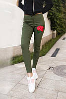 Женские джинсы с аппликацией РК190