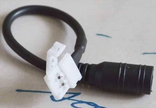 Разъем(коннектор) для светодиодной ленты 10мм. + провод с рзъемом под источник питания 5,5*2,1мм., фото 2