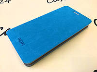 Кожаный чехол книжка Mofi для Huawei Ascend Y530-U00 голубой