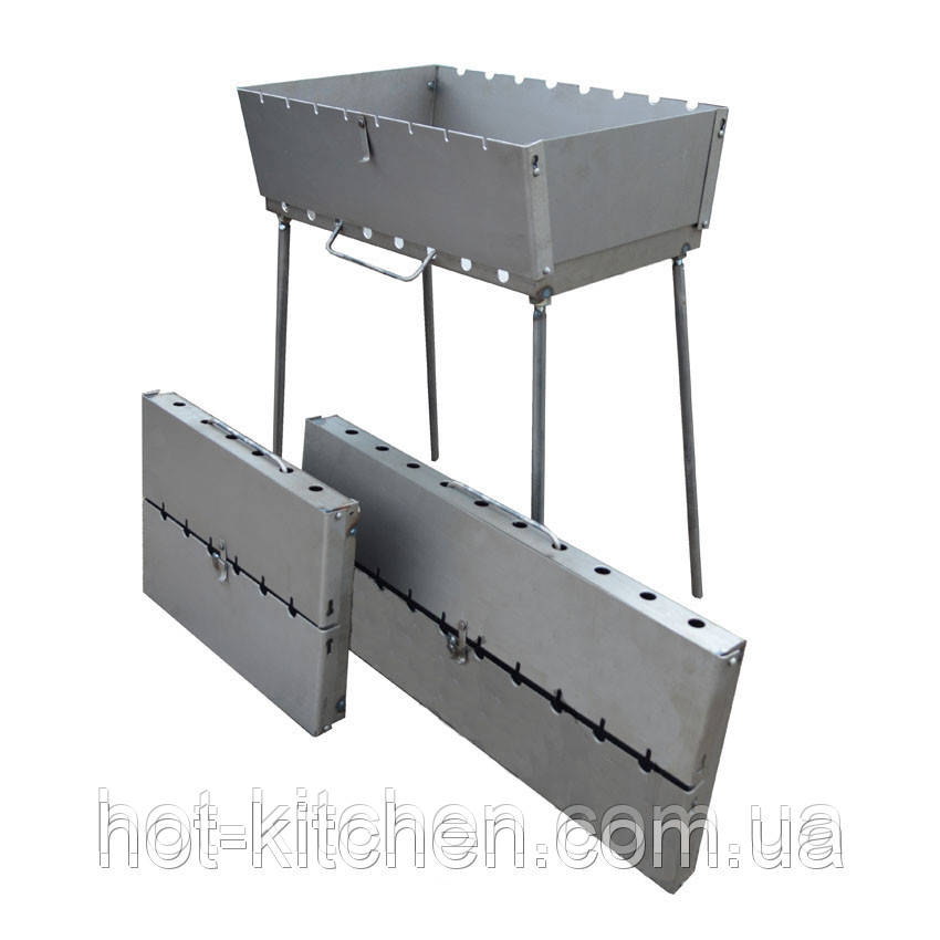 Мангал (чемодан) на 8 шампуров 2.0 мм