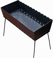 Мангал (чемодан) на 12 шампуров 2.0 мм, фото 1