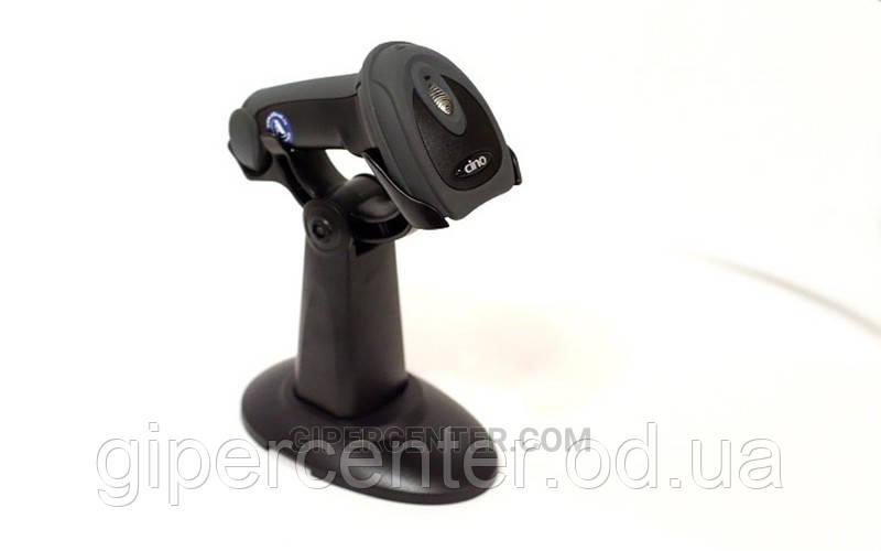 Сканер штрих-кодов Cino F780 USB черный с прорезиненным корпусом и подставкой Hands Free