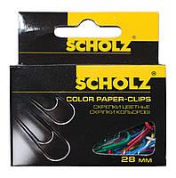 """Скрепки цветные """"Scholz"""" 28 мм."""