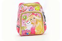 Рюкзак школьный каркасный «Девочка с котенком» BB0275