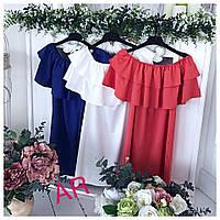 Платье волан. качество люкс в комплекте ремень размер 42-46