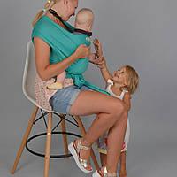 Слинг-шарф «FOR KIDS»  трикотажный. Изумруд.