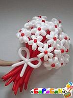 """Букет цветов из шаров """"Белые астры"""""""