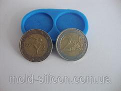"""Силиконовый молд """"Монеты 2 евро"""""""