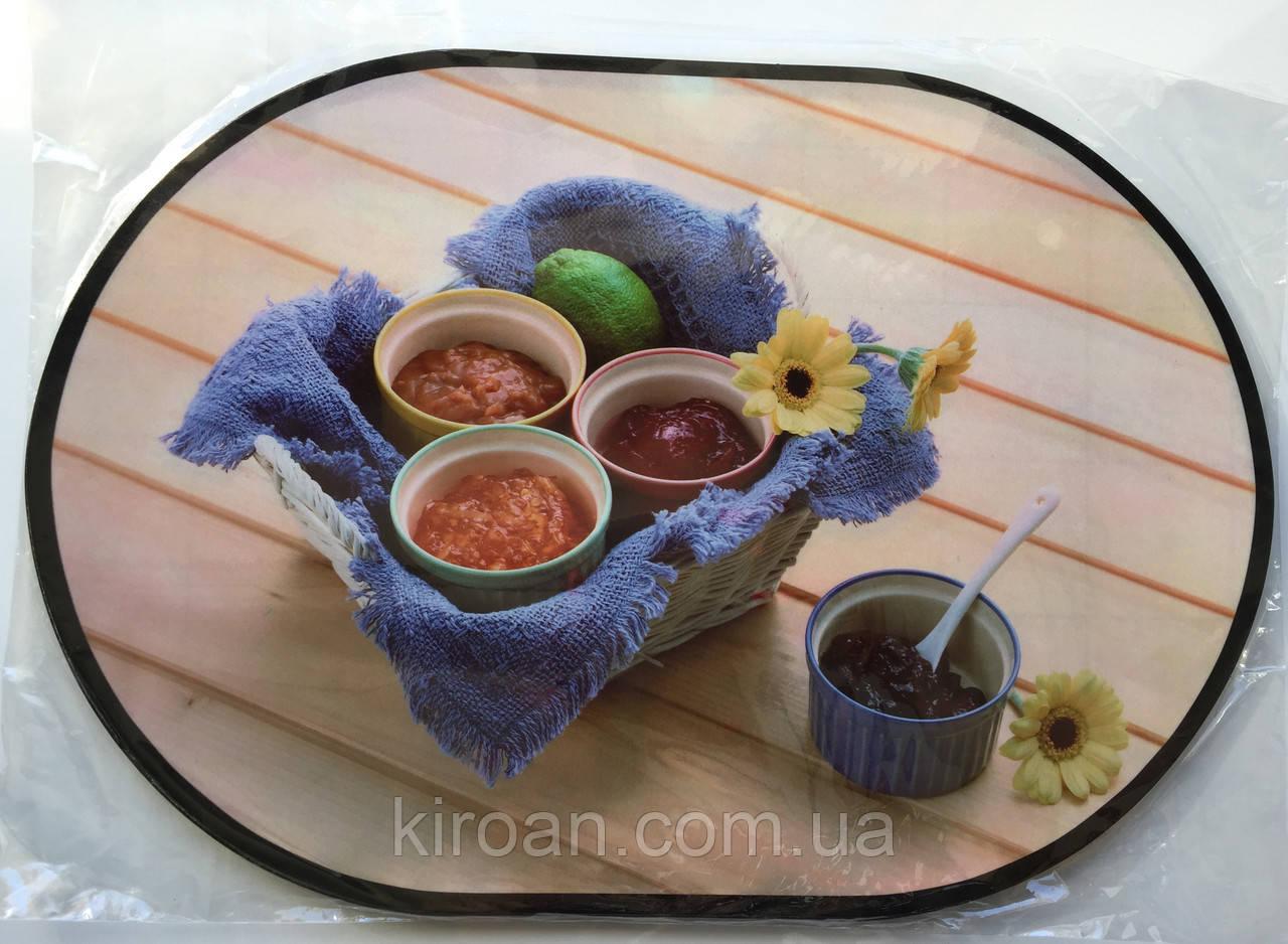 Сервировочная подставка под тарелки на основе (Овал ПЕ) 12 шт PE07