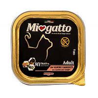 Консервы Miogatta Adult для кошек с лососем и креветками, 100 г