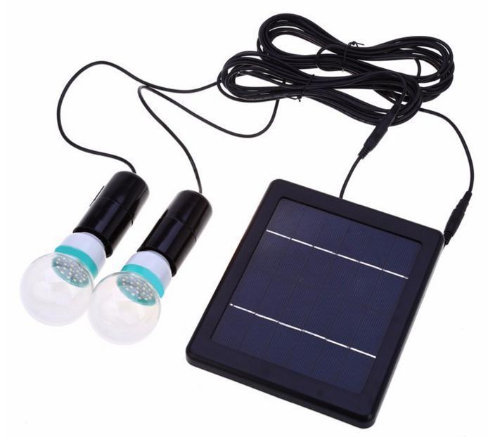 LED светильник на солнечной батарее для внутреннего и наружного освещения