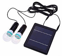 Светодиодные лампы на солнечной батарее 2х20 LED с датчиком освещенности