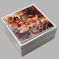 Шкатулка для бижутерии «Купидоны», 11х11х5,5 см. (262-2118W)