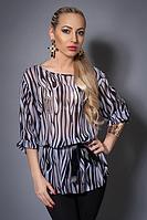Черно-белая женская блуза размер:42-44,46-48