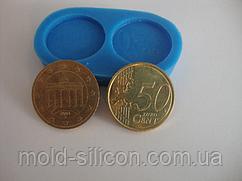 """Силиконовый молд """"Монеты 50 евро центов"""""""