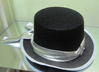 Шляпа Цилиндр черный подростковый женский