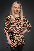 Леопардовая женская кофточка размер:44-46,46-48