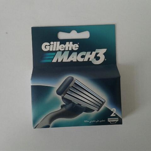 Кассеты мужские для бритья Gillette Mach 3 2 шт. (Жиллетт Мак 3 Оригинал)