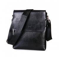 Мужская наплечная сумка Sergio Torretti из комбинации кожи и высококачественной екокожи (22005)