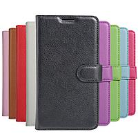Кожаный чехол книжка Lichee для Motorola Moto E4 Plus (9 цветов)