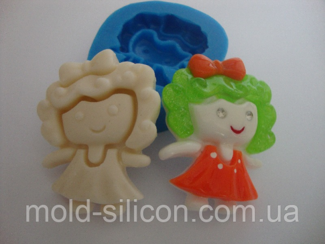"""Силиконовый молд """"Маленькая кукла"""""""