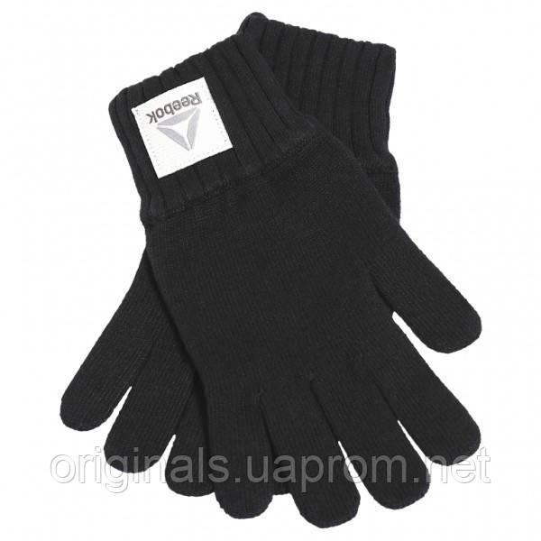 Черные перчатки Reebok Active Fondation Knitted BQ1256