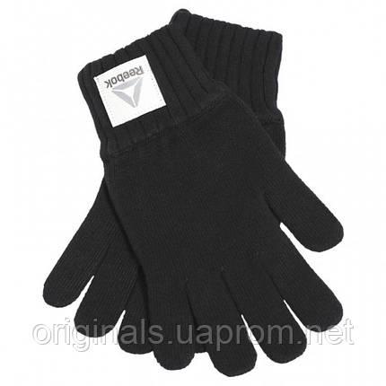 Черные перчатки Reebok Active Fondation Knitted BQ1256, фото 2
