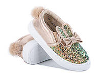 Слипоны детские текстиль gold Большой выбор обуви на сайте saxo.com.ua