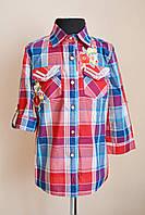 Рубашка для девочек детская и подростковая в клетку, фото 1