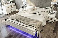Кровать двухспальная 1.6 Бьянко (белый глянец) от Світ Меблів