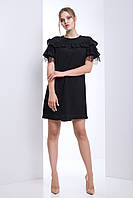 Стильное женственное платье Kaliforniya (42–50р) в расцветках, фото 1